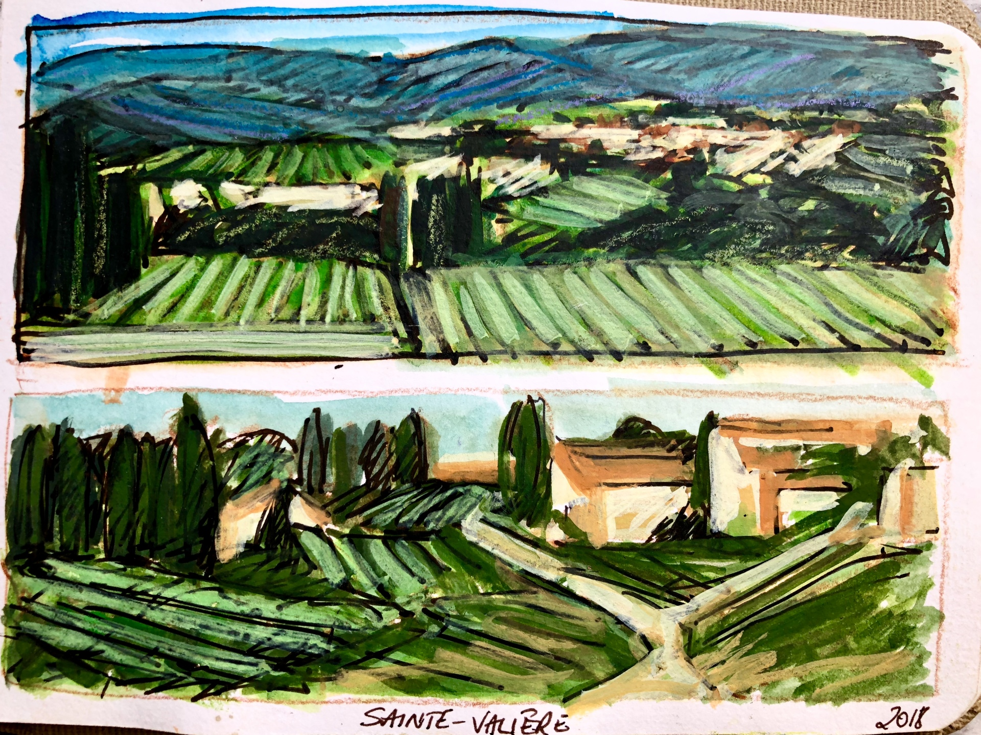 SketchBooks & Drawings FRANCE 2018