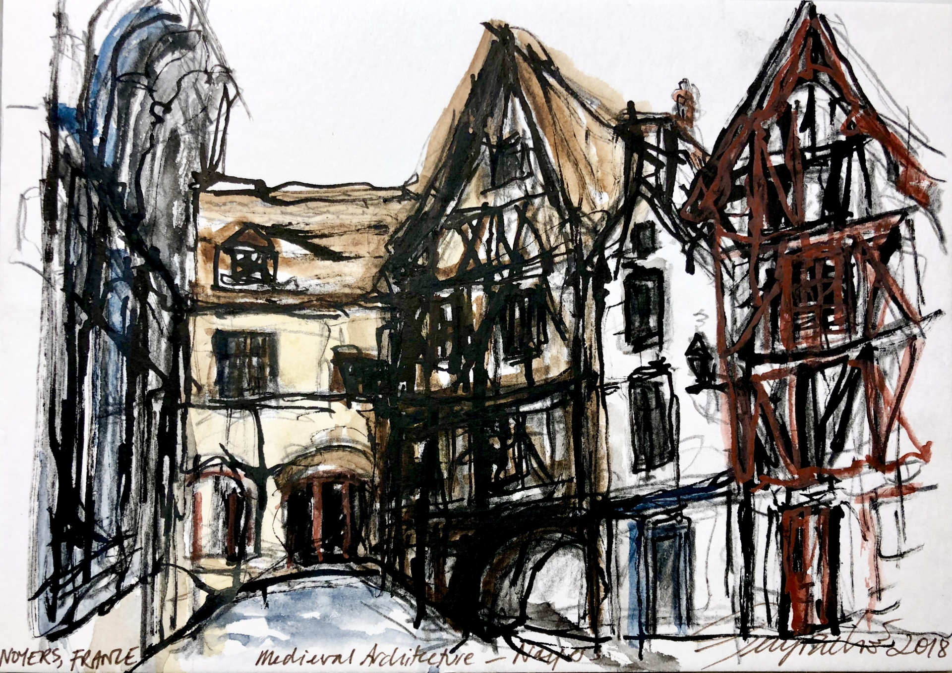 Medieval Architecture, Noyers (SOLD)
