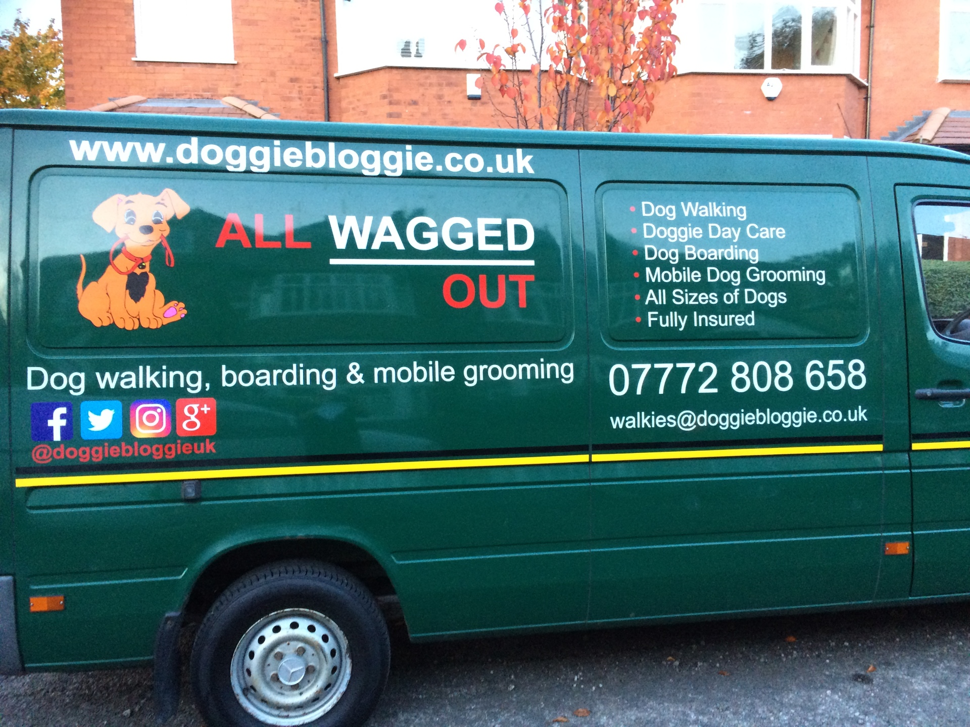 Look out for my lovely green van!
