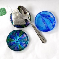 mini fused glass plates