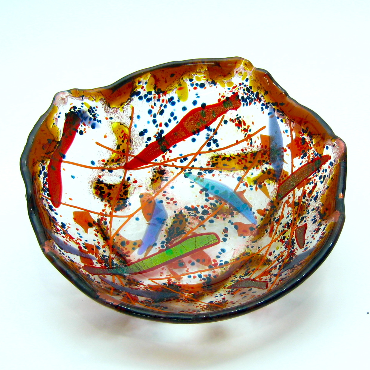 handmade fused glass bowl