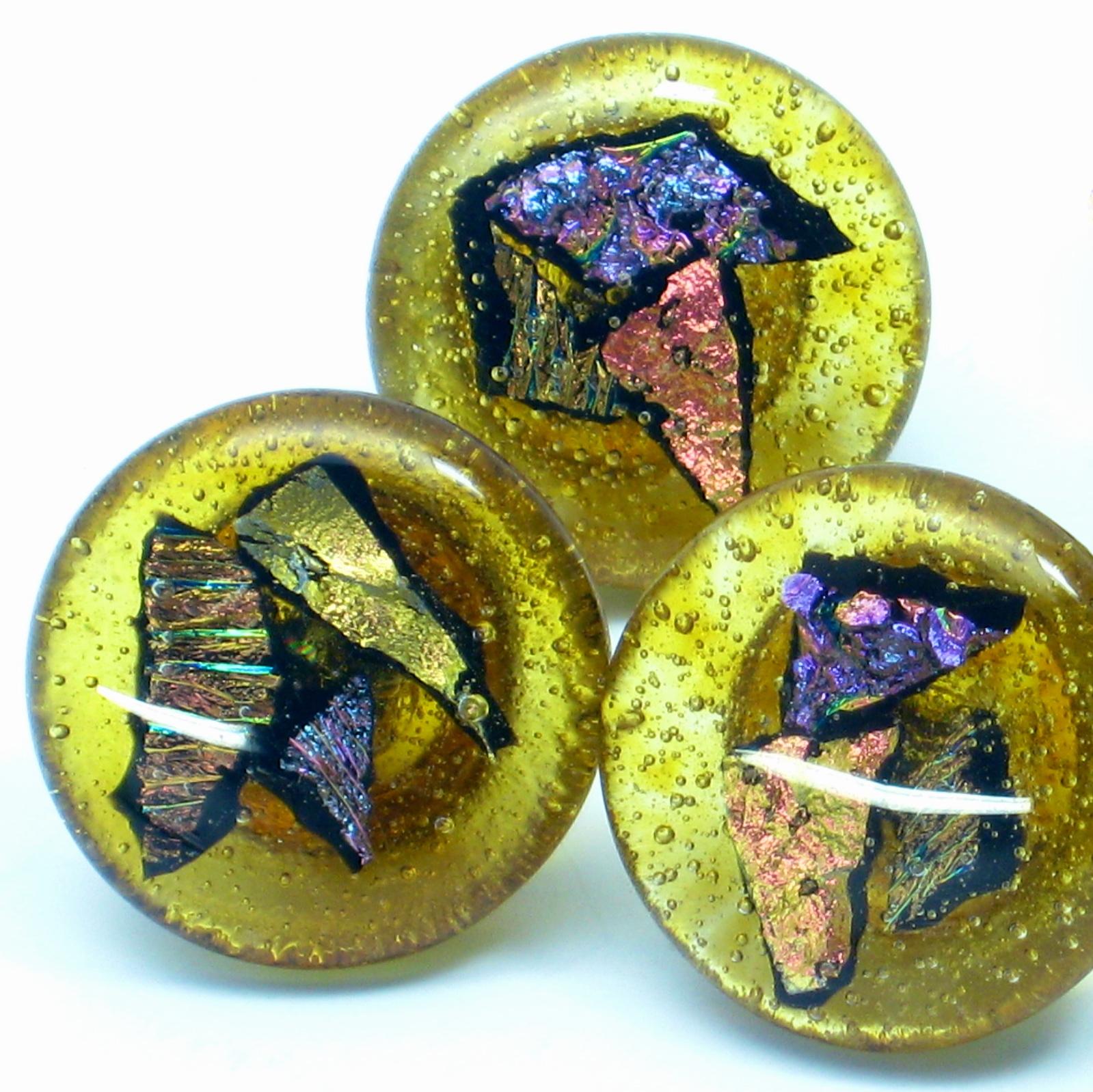 handmade glass knob pulls