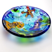art glass fish bowl