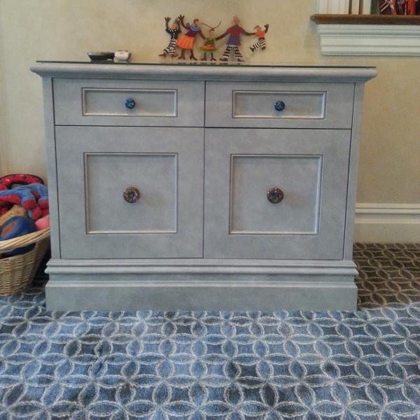 Custom order fused glass drawer pull knobs created for Deborah D