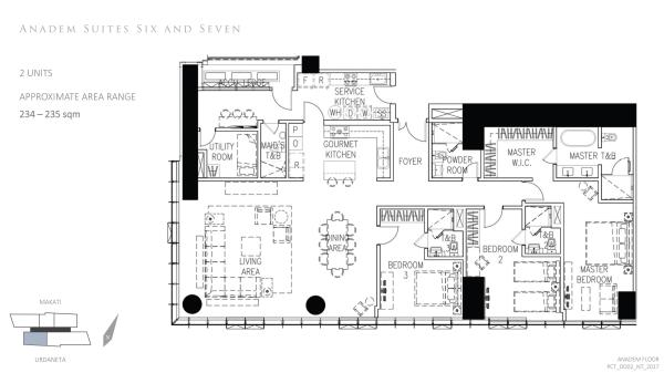 park central towers ANADEM SIX AND SEVEN floor plan