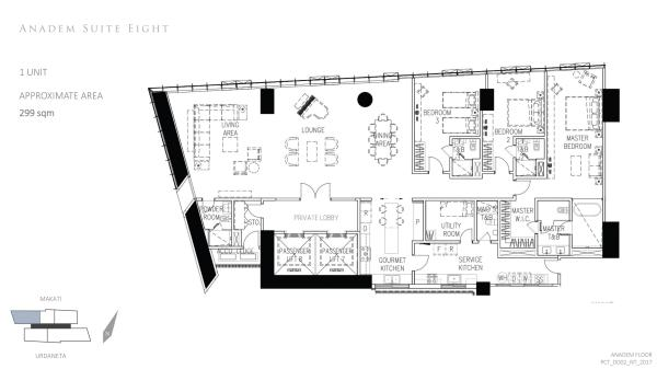park central towers ANADEM SUITE 8 floor plan