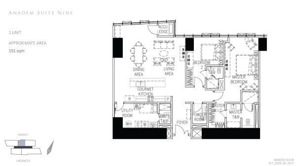 park central towers ANADEM SUITE 9  floor plan