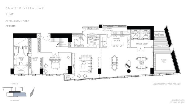park central towers ANADEM VILLA TWO (FIRST LEVEL) floor plan