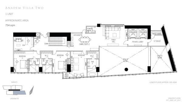 park central towers ANADEM VILLA TWO (SECOND LEVEL) floor plan