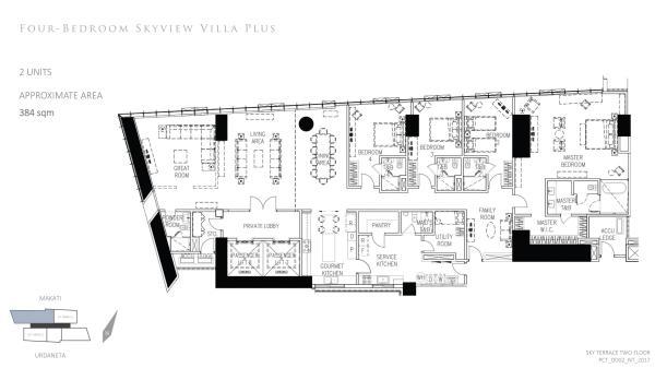 park central towers 4 bedroom skyview villa plus floor plan