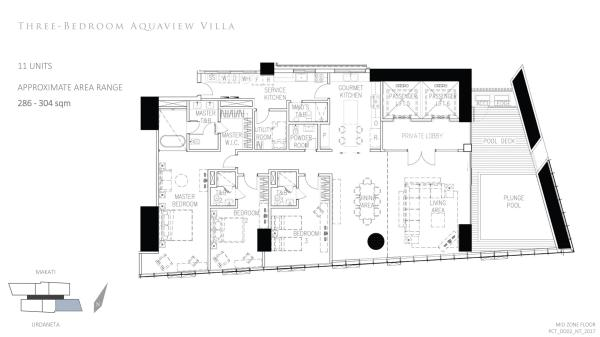 park central towers 3 BEDROOM AQUAVIEW VILLA floor plan