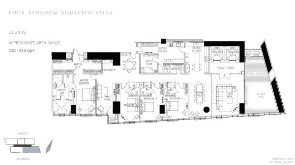 park central towers 4 BEDROOM AQUAVIEW VILLA floor plan