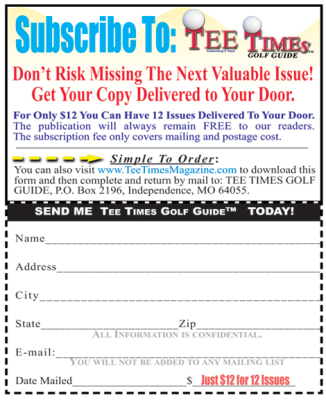 TEE TIMES GOLF GUIDE Subscription form-17