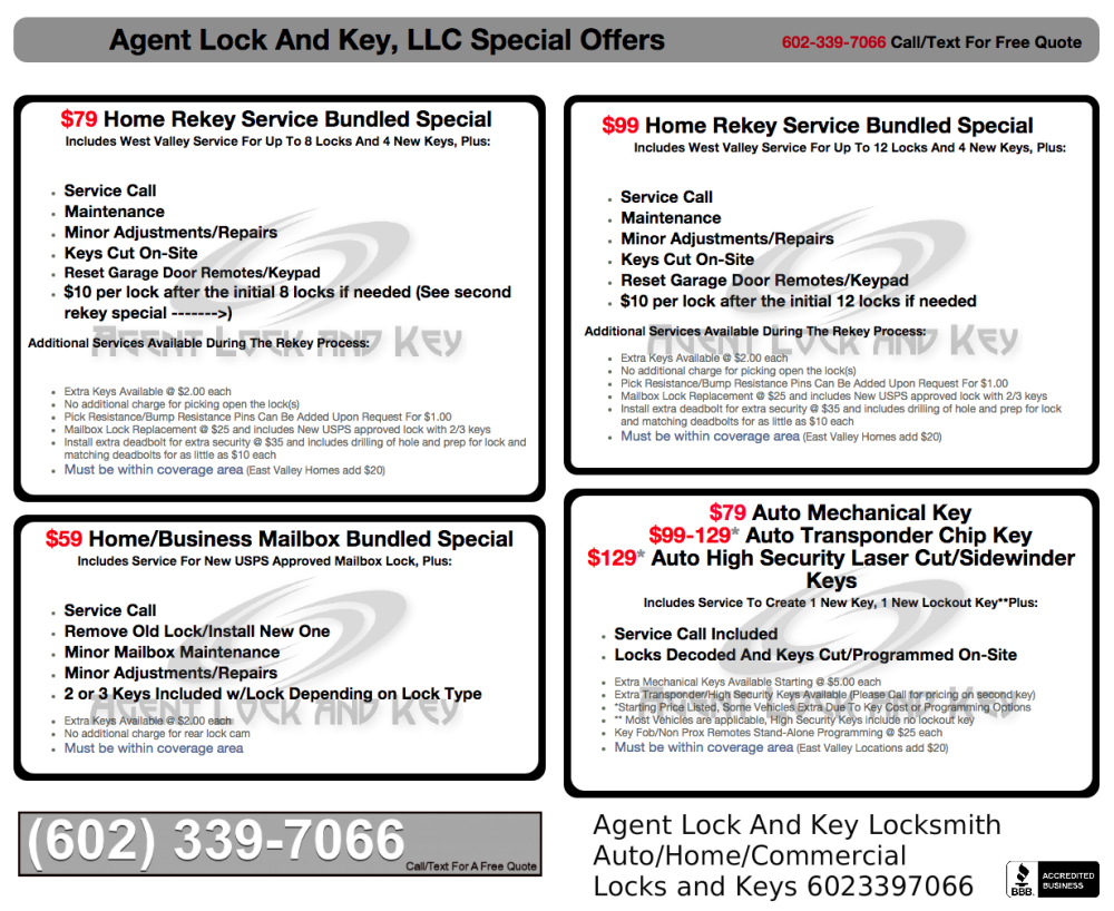 Locksmith Pricing