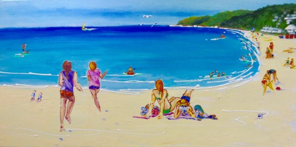 'Playing Chase on Noosa Beach'©