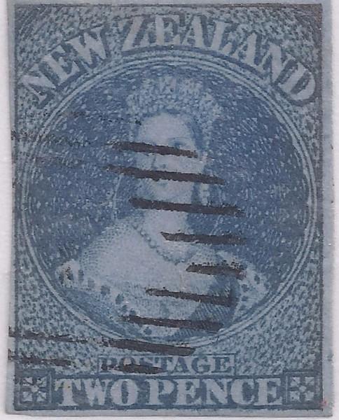 SG. 5 2d Blue on Blue NZ Chalon