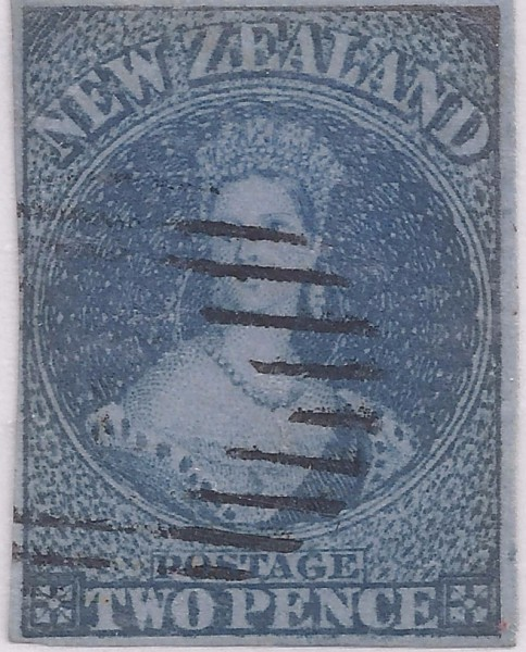 SG. 5 2d Blue on Blue NZ Chalon