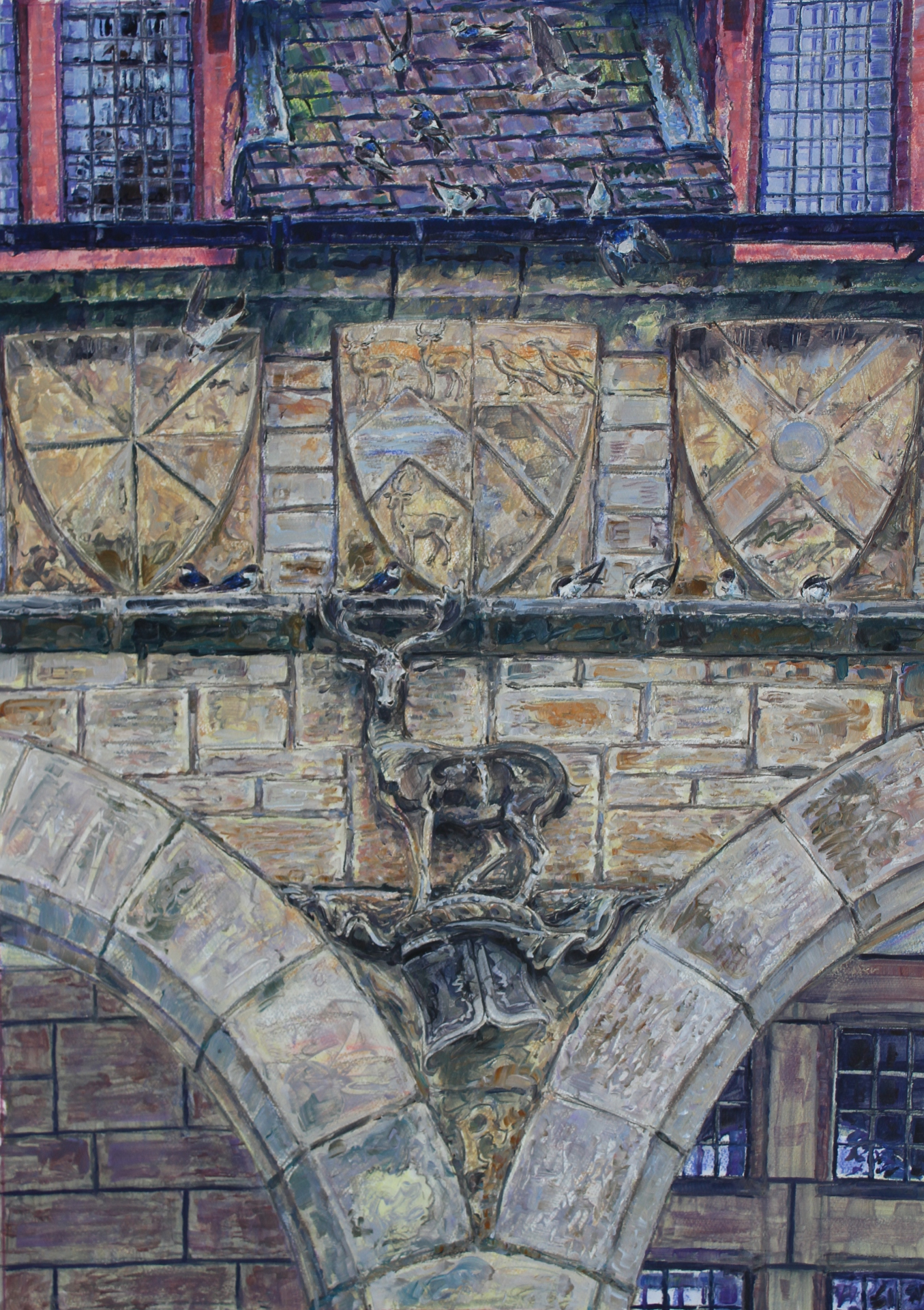 Architectural Deer Motif, Studley Deer Park, North Yorkshire