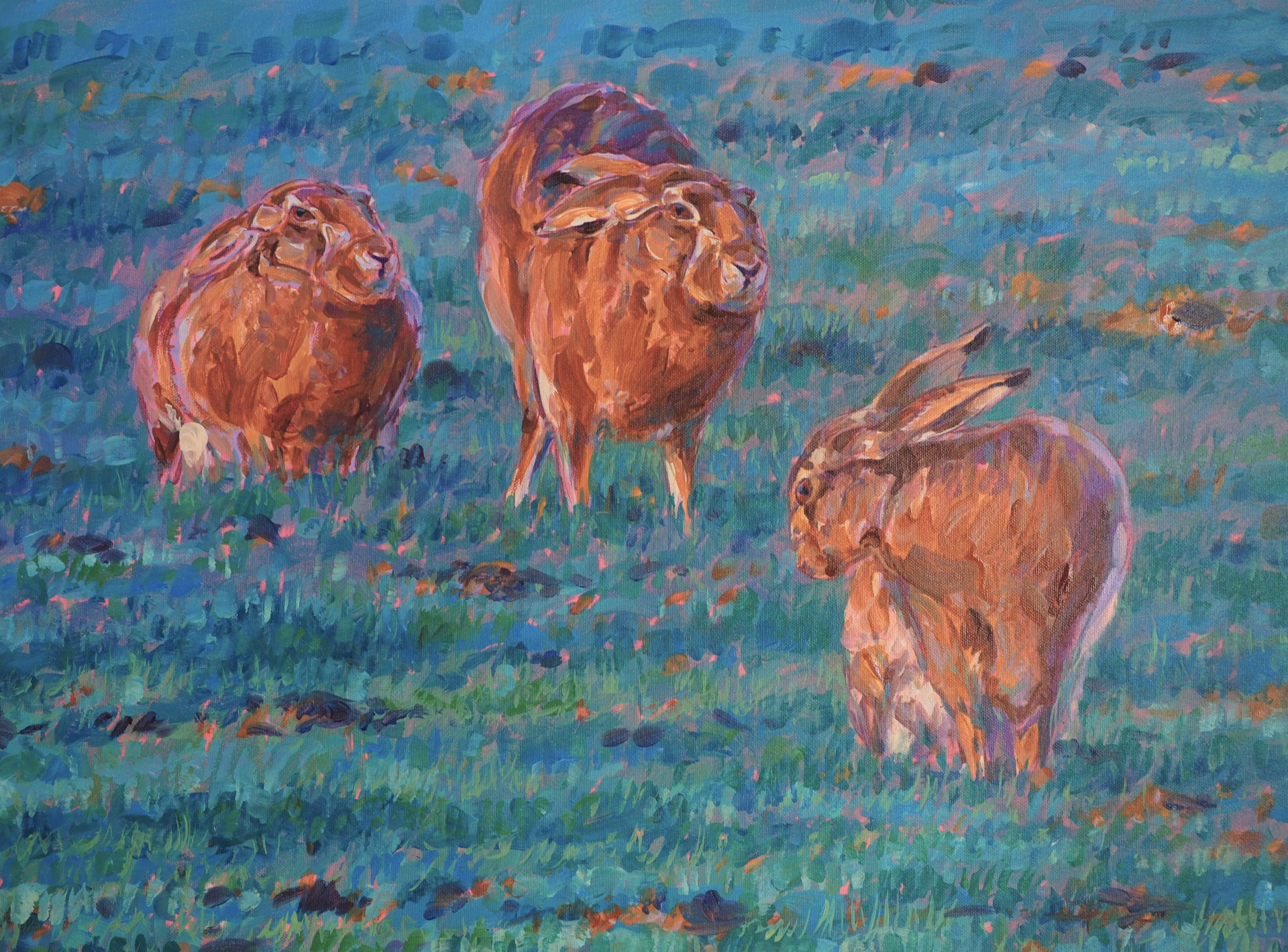 Evening March Hares