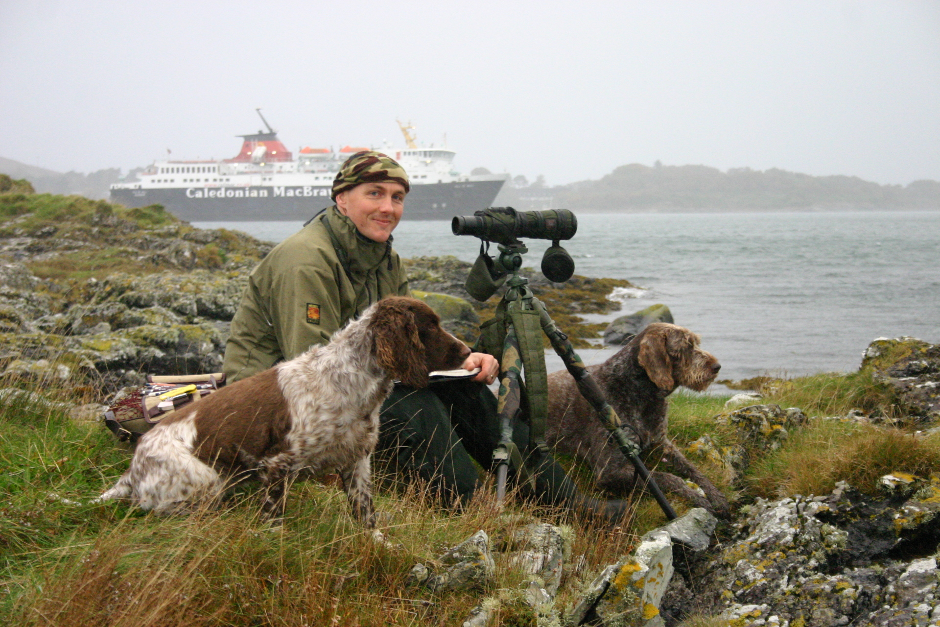 David , Skye and Lily, Craignure, Mull