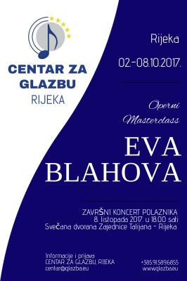 Operni Masterclass prof. Eva Blahova, Rijeka 2017