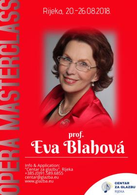 Opera Masterclass prof Eva Blahova, Rijeka 2018