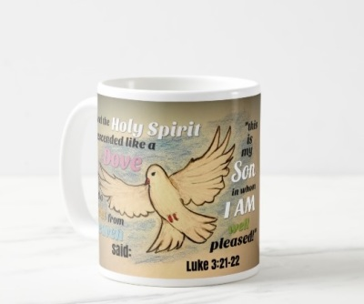 The Descinding Dove Mug