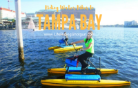Riding Water Bikes in Tampa Bay
