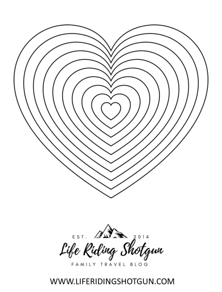 Hearts Coloring Page, Hard
