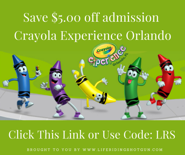 Save $5 off admission to Crayola Experience Orlando