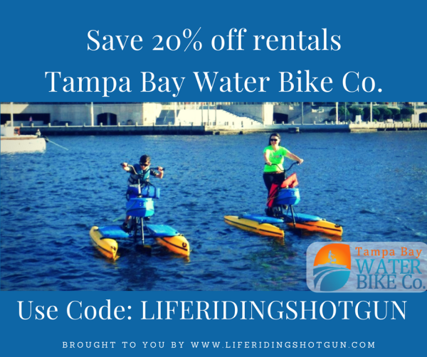 Save 20% off Tampa Bay Water Bikes