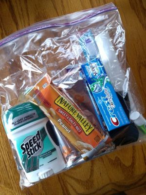 Make a homeless kit from extra or dollar store items.