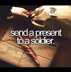 Send a gift, or just a letter, to a deployed military member (link).