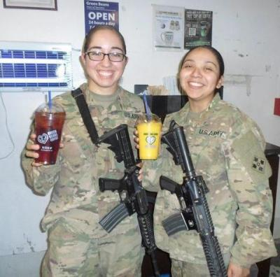 Buy a cup of coffee for a deployed military member (link).