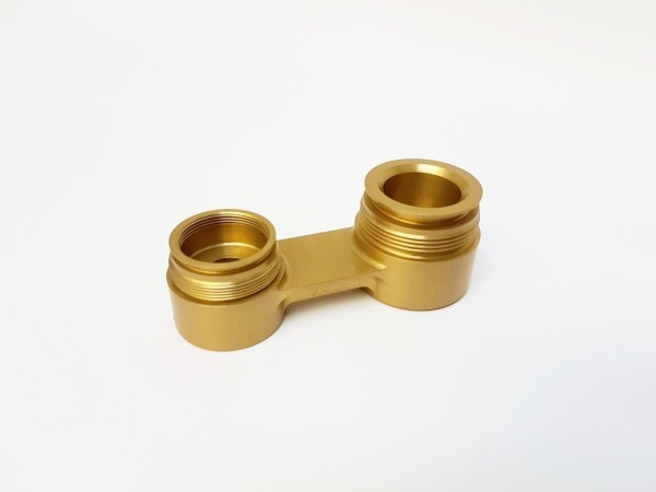 Newport CNC Precision Engineering Gold Anodised Aluminium Motorsport Part
