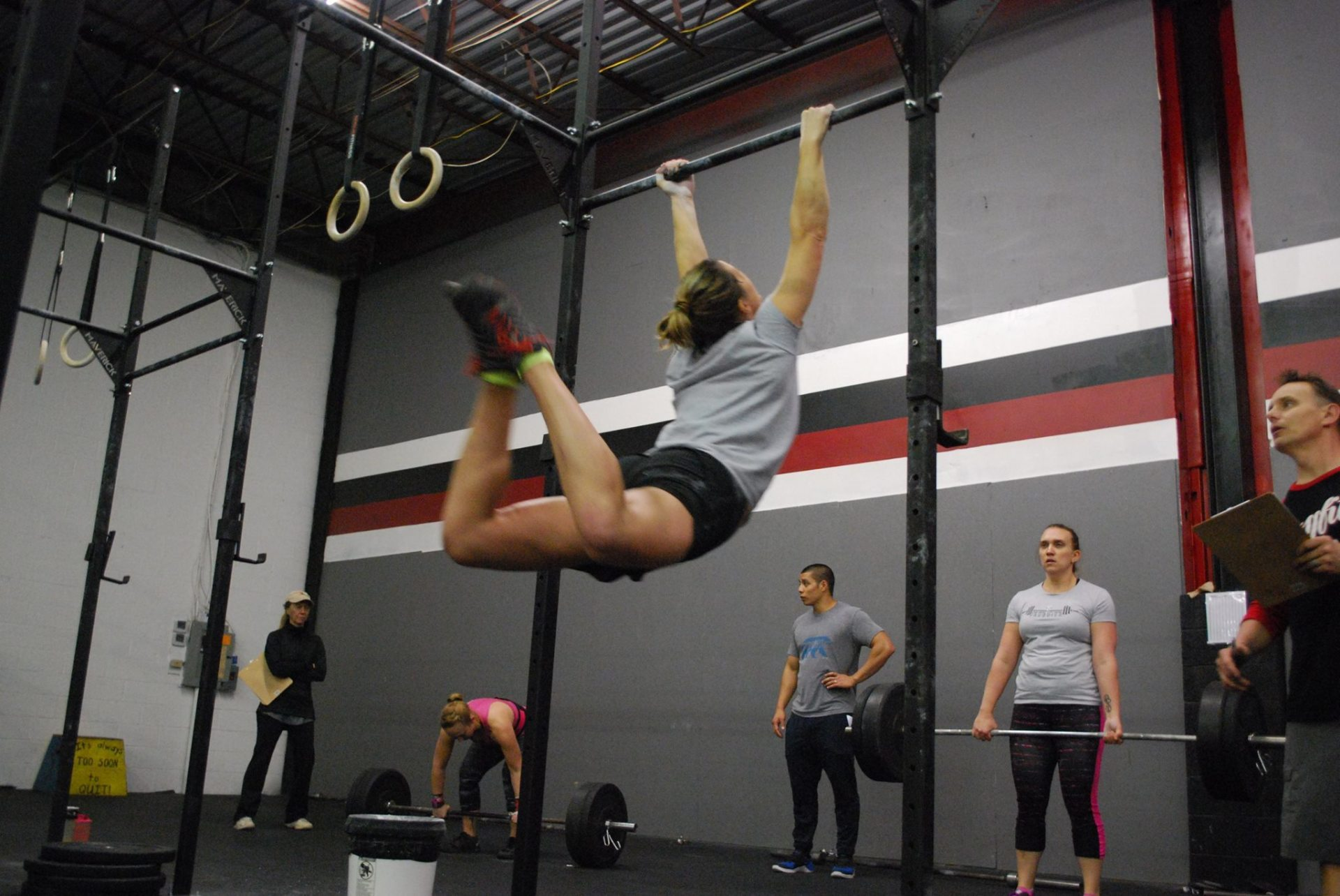 Crossfit Competition - Toes To Bar