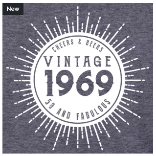 50th Birthday, Cheers and Beers, Vintage, Vintage 1969, Fifty and Fabulous
