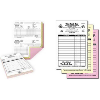 Custom business forms, carbonless forms, from Texas Branders Printing, Houston, Texa.