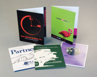 Presentation pocket folders, full color, from Texas Branders Printing, Houston, Texas.