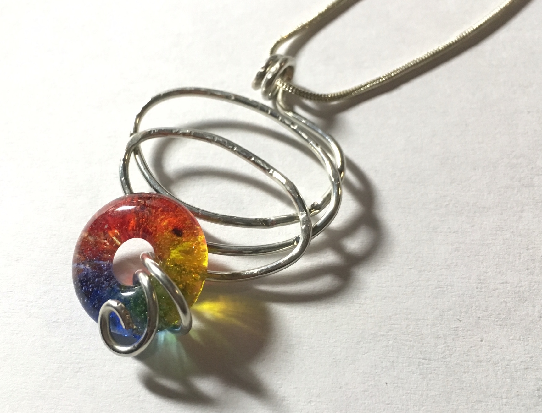 unique jewelry, glass jewelry, lgbt jewelry, gift for her,handmade glass, rainbow glass, rainbow jewelry, pride jewelry, lgbt wedding, stocking stuffer