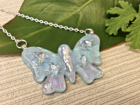 bride jewelry, bridal, statement jewelry, handmade jewelry, dichroic glass, gift for her, butterfly, fused glass
