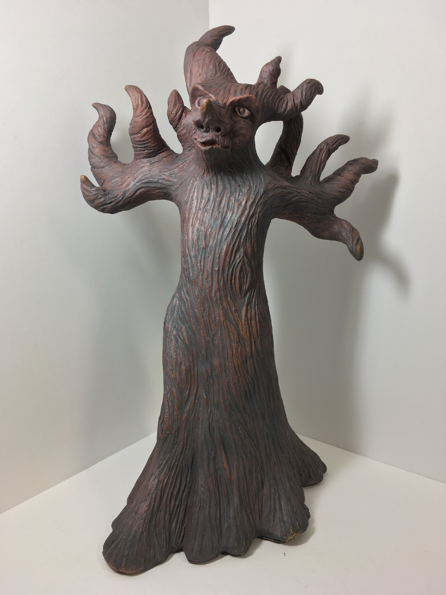 Dark Tree lord, tree spirit, druid spirit, fantasy sculpture, science fiction character