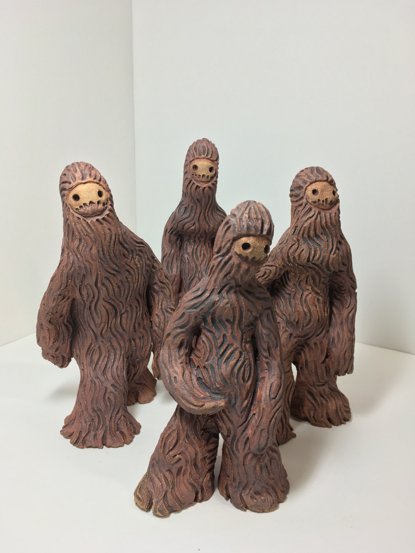 wookie creature, fantasy creature, science fiction sculpture, zack rudy