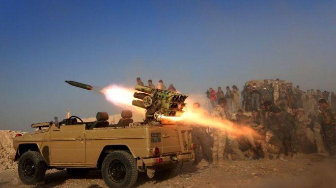 Duulaanka Mosul oo sii xoogeysanaya