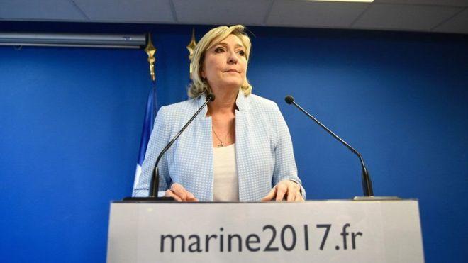 Faransiiska: Le Pen oo sheegtay in guusha Trump horseedayso in iyadana la doorto