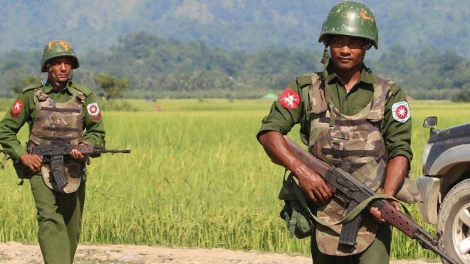 Ciidanka Myanmar oo dagaal la galay falaago