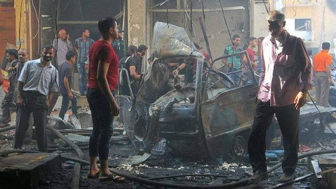 Dad ku dhintay duqeyn ka dhacday gobolka Idlib, Suuriya