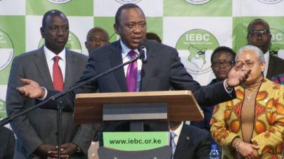 Uhura Kenyatta oo Doorashadii ku Guuleystay