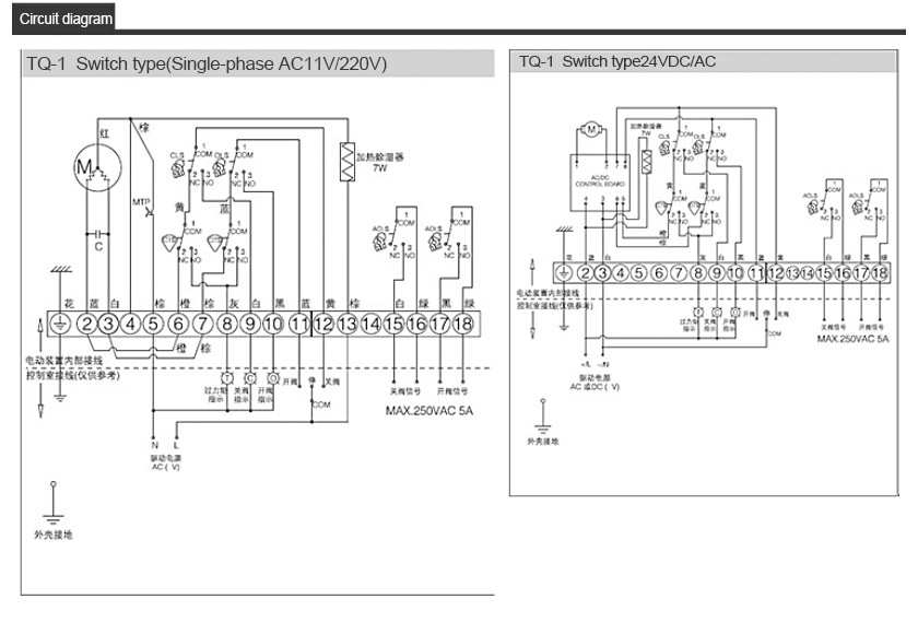 TQ-01 electric actuator parameters