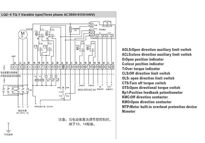 TQ-01 electric actuator dwg